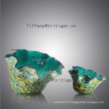 Shell shape colorful glass fruit plate