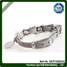 Leather Bracelet, Metal Real Bracelet Leather Cuff 2015 Fashion Leather Bracelet