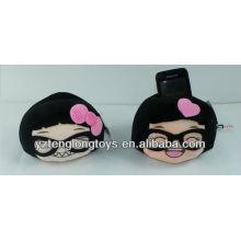 stuffed lovely smile face plush phone holder