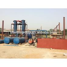 16-20T capacidad planta de pirólisis de neumáticos de chatarra continua Planta de pirolisis de neumáticos de desecho / plástico con CE