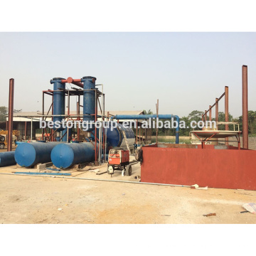 High efficiency hot air bicycle tyre pyrolysis to oil equipment