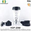 600ml vórtice plástico por mayor proteína agite la botella, botella de la coctelera de proteína eléctrico plástico (HDP-2090)