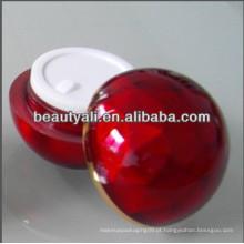 20ml 30ml 50ml forma de bola de vidro creme de acrílico de diamante
