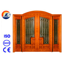 Diseño Clásico Meranti Foliding Puerta de Madera