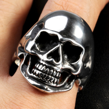 Wholesale gold skull men ring punk