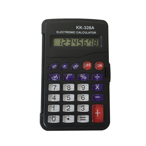 pocket size calculator with cover