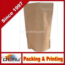 Бумага Kraft стоит вверх мешки кофе застежки-молнии упаковывая с клапаном (220099)
