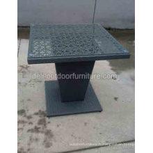 Table de café mobilier d'extérieur en osier rotin