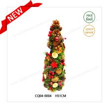 Atrativos enfeites plásticos de pinho de Natal H51cm e bola de natal para festa