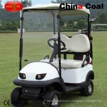 2 voitures de golf guidées par gaz de Seaters
