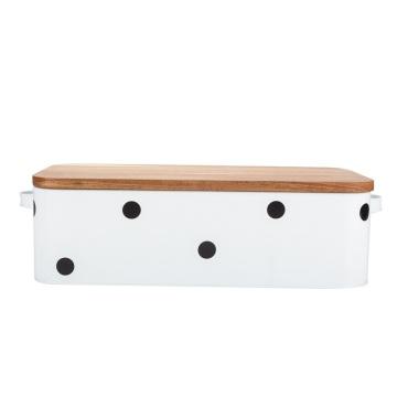 Tapa de madera de caja de pan con impresión de logotipo