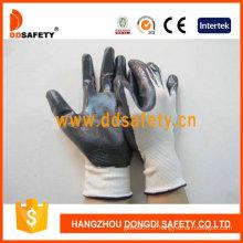 Nylon blanc avec gant en nitrile noir-Dnn336