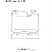 Pièces détachées pour automobiles Plaquettes de frein pour BMW 34111160195