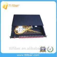 24port FC painel de patch de fibra deslizável para redes de telecomunicação, redes CATV