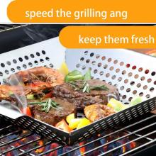 Panier Grill Pan Smoker Griller Barbecue