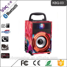 Portable true wood aux in wireless ahuja amplifier pc speaker system