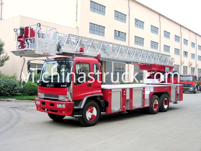 ISUZU telescopic aerial ladder fire truck (YT25)