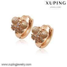 92694 xuping 18k plaqué or bijoux femmes fantaisie boucle d'oreille pour les cadeaux de noël