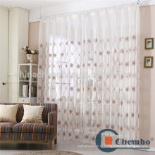 Rideau en crochet à rideau en tissu transparent