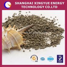 sables de manganèse de prix concurrentiel de média filtrant de solvant de fer