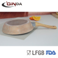 Geschmiedete Goldfarbe Aluminium Granit Steinbeschichtung Non Stick Fry Pan