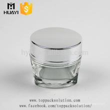 vente en gros 50ml pots de verre triangle unique crème cosmétique