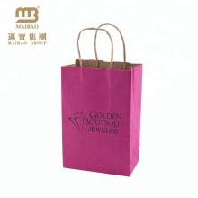 Saco de papel de empacotamento feito sob encomenda Ecofriendly / Giftbag de Kraft do portador da jóia