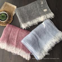 Fábrica de las mujeres de la moda del tamaño máximo que cuelga la bufanda de lino del invierno de la venta al por mayor de la caída zhou