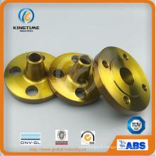 Flange de pescoço de solda de aço carbono A105n para ASME B16.5 (KT0393)