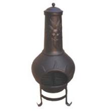 Chiminea (FSL072) À l'extérieur, Sunface Cast Iron Chiminea