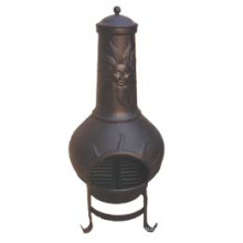 Chiminea (FSL072) Outdoor, Sunface Cast Iron Chiminea
