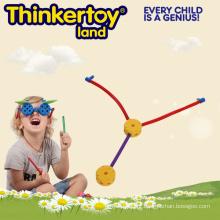 Brinquedo magnético do bloco de apartamentos plástico dos miúdos para crianças