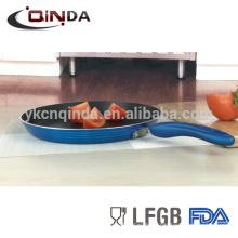 Tawa antiadherente de aluminio indio con pintura metálica azul