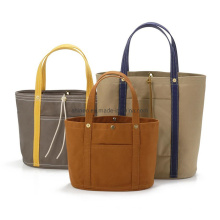 Zipper Inner Pocket Canvas Hand-Selected High Quality Custom Japanese Color Natural Materials Tote Bags