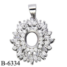Factory Wholesale 925 Sterling Silver Pendant Without Center Stone