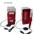 USB Électrique Alimenté Mini Frigo Verticale Gel avec LED