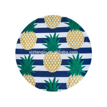 customized printed round beach towels with tassels
