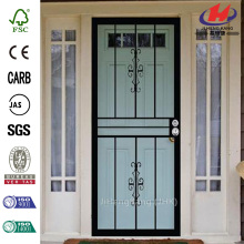 Genesis Steel Black Prehung Security Door