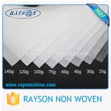 Peso adequado 100% polipropileno não tecido tecido Shenzhen