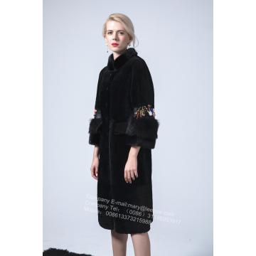 Ladies Long Winter Australia Merino Shearling Coat