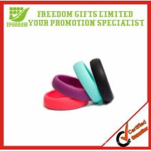Anéis de casamento de borracha de silicone em relevo personalizado promocional