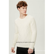 Half Fishmen Rib Round Neck Knitwear for Men