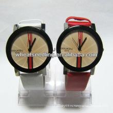 Хорошее качество пара наручные часы для любовника подарок кожаный ремешок