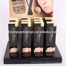 Counter Top Large Negro Acrylic Eyelash Extensión Display Case Cosméticos Tienda Makeup Caja de almacenamiento