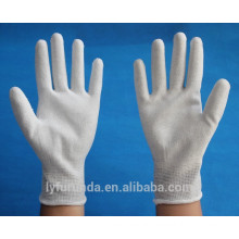 anti static carbon fiber gloves coated with pu palm