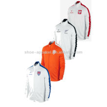 2014 100%polyester Rib mock neck mens track jacket