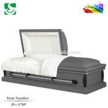 JS-A769 cercueils de bois solides avec intérieur velours