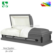 JS-A769 caixões de madeira sólidas com interior de veludo