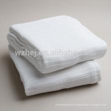 Fabricants de couvertures d'hôpital thermiques 100% de coton de contact doux