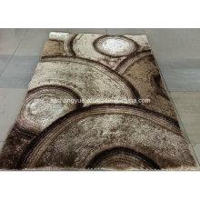 Polyester Modern Shaggy Carpets avec effets 3D